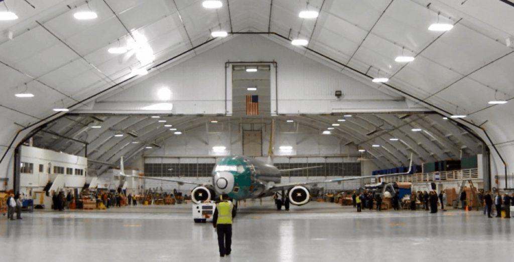 Inside view of Hangar 2- Everett