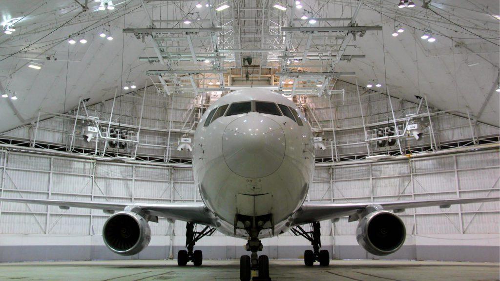 Inside of ATS Kansas City, MO hangar