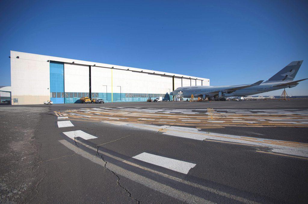 Moses Lake, WA hangar from runway
